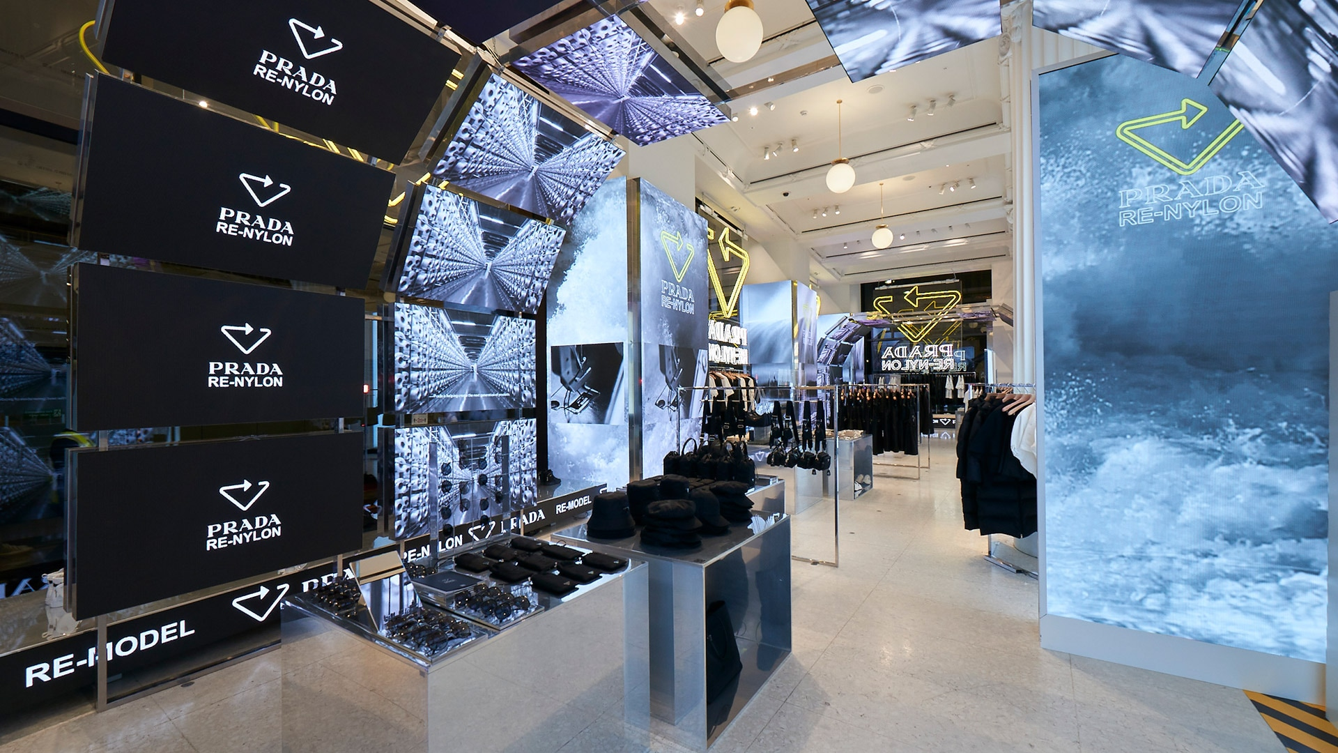 Pop up Prada RE-NYLON for Selfridges
